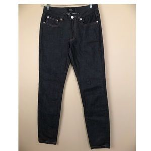 A.P.C Jean Moulant Dark Indigo Skinny Jeans
